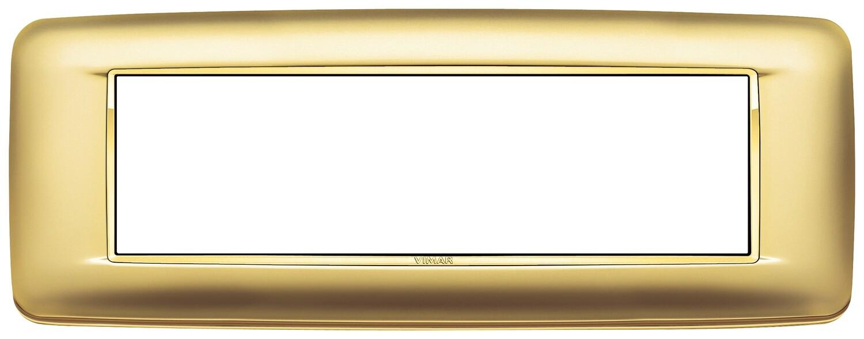 Накладка с закруглениями для 7 модулей золото сатинированое