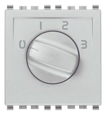 Коммутатор поворотный 1p 6(3)a, серебро матовое