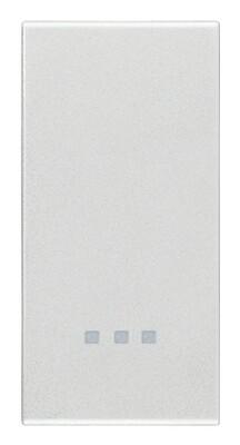 Клавиша 1m, серебро матовое