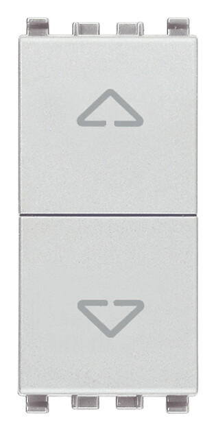 Две кнопки взаимоблокируемые no+no 10a, серебро матовое