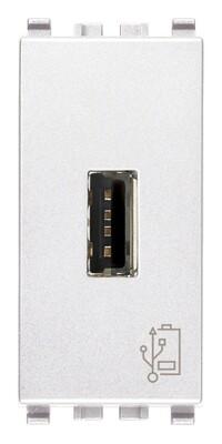 Зарядное устройство с разъемом USB 5V 1,5A, 1модуль, белое