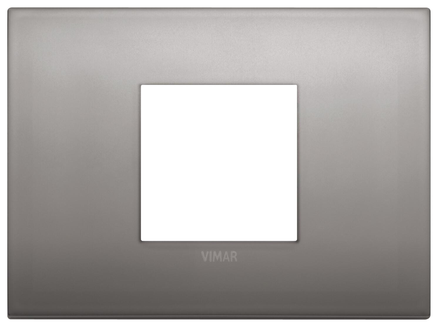 Накладка CLASSIC на 2 модуля центрально никель черный