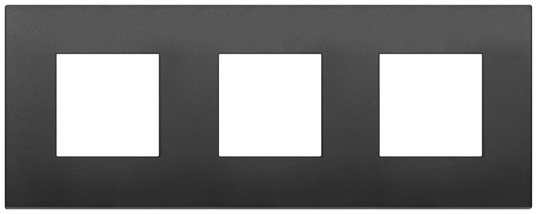 Накладка CLASSIC на 6 модулей (2+2+2) расстояние между центрами 71мм черная