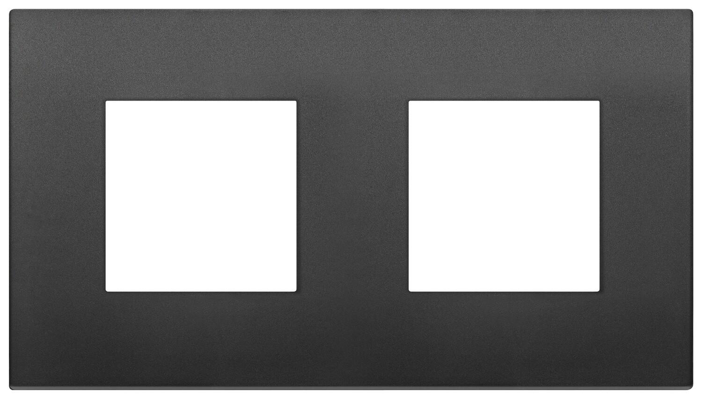 Накладка CLASSIC на 4 модуля (2+2) расстояние между центрами 71мм черная