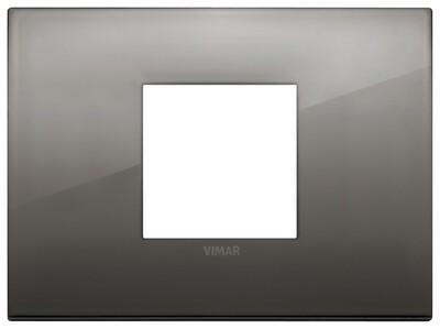 Накладка CLASSIC на 2 модуля центрально хром черный