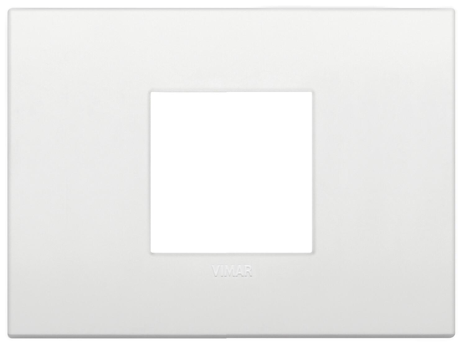 Накладка CLASSIC на 2 модуля центрально белая