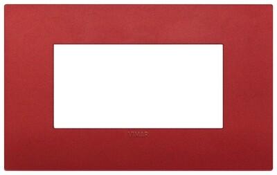 Накладка CLASSIC на 4 модуля красная матовая
