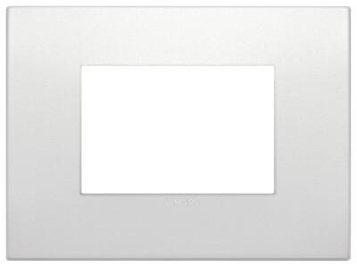 Накладка CLASSIC на 3 модуля жемчужная матовая