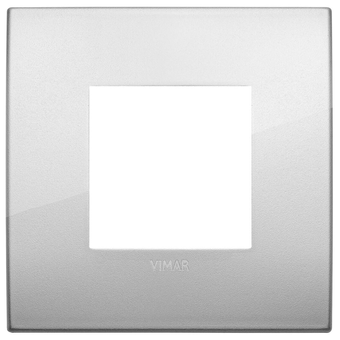Накладка CLASSIC на 2 модуля серебро