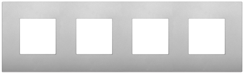 Накладка CLASSIC на 8 модулей (2+2+2+2) расстояние между центрами 71мм серебро матовое