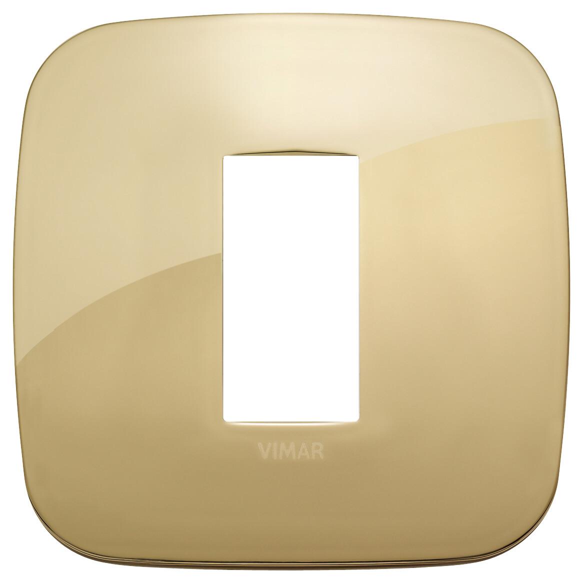 Накладка ROUND на 1 модуль золото