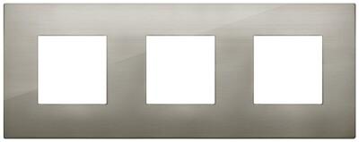 Накладка CLASSIC на 6 модулей (2+2+2) расстояние между центрами 71мм сталь матовая