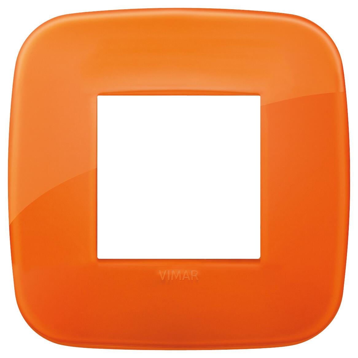 Накладка ROUND на 2 модуля Reflex оранжевая