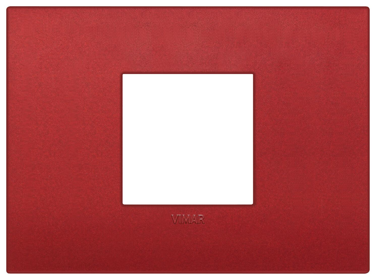 Накладка CLASSIC на 2 модуля центрально красная матовая