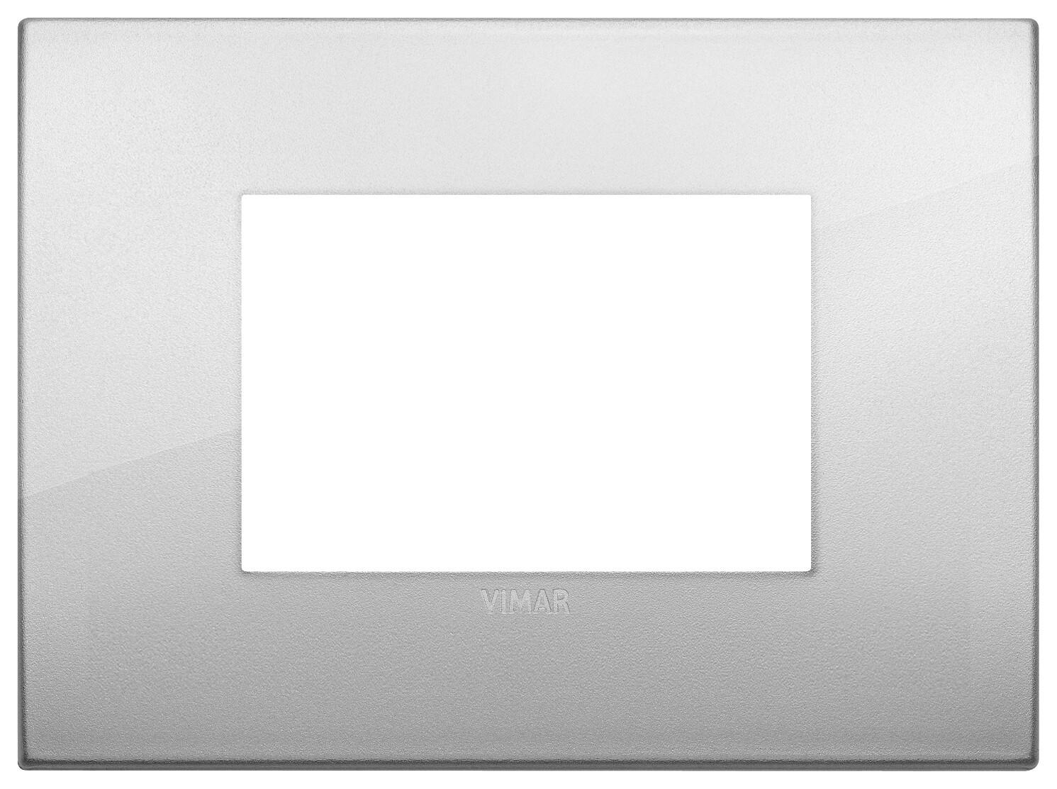Накладка CLASSIC на 3 модуля серебро