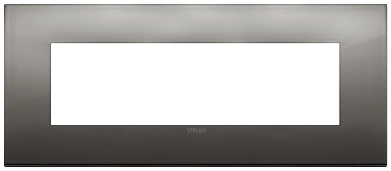 Накладка CLASSIC на 7 модулей хром черный