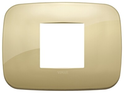 Накладка ROUND на 2 модуля центрально золото