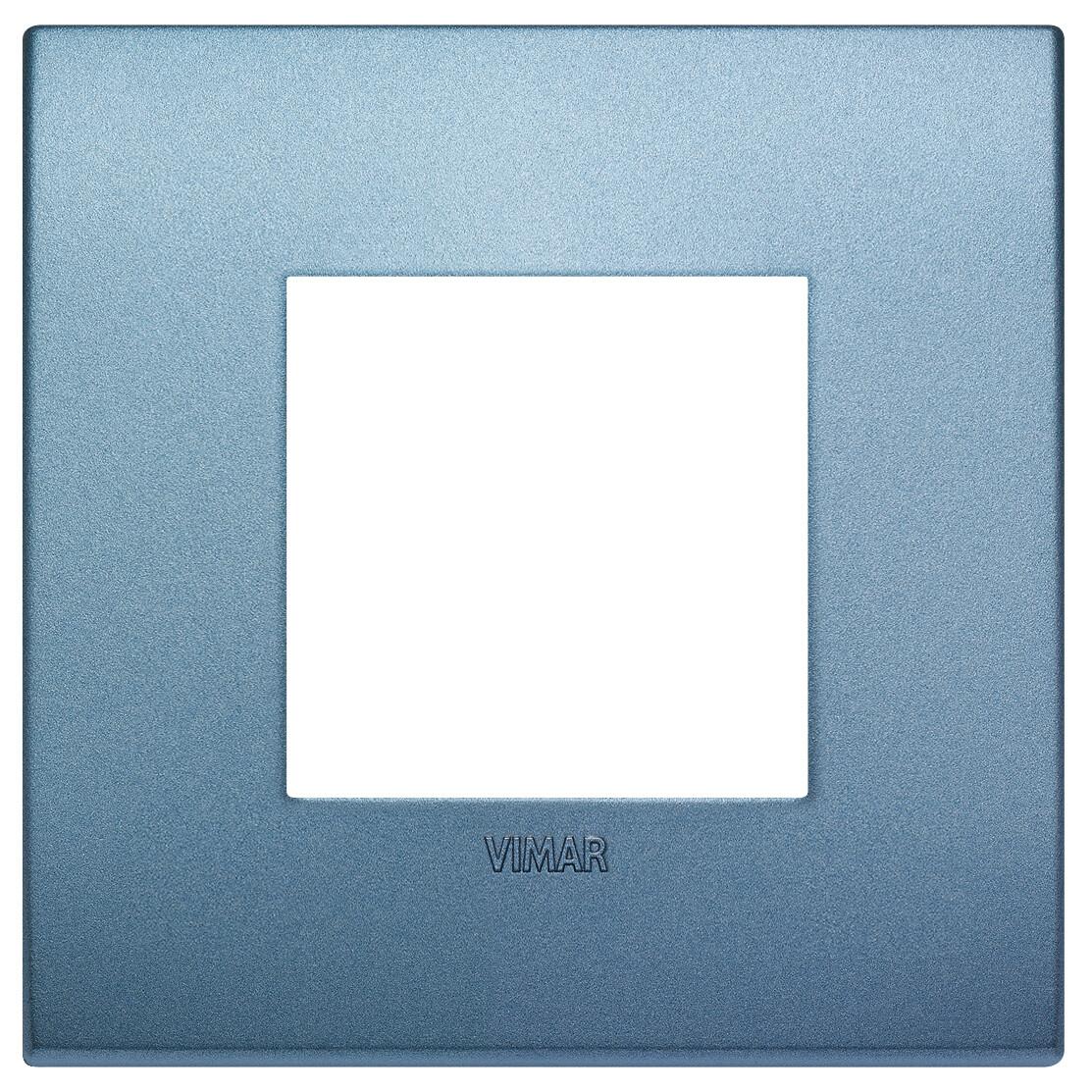 Накладка CLASSIC на 2 модуля синяя матовая