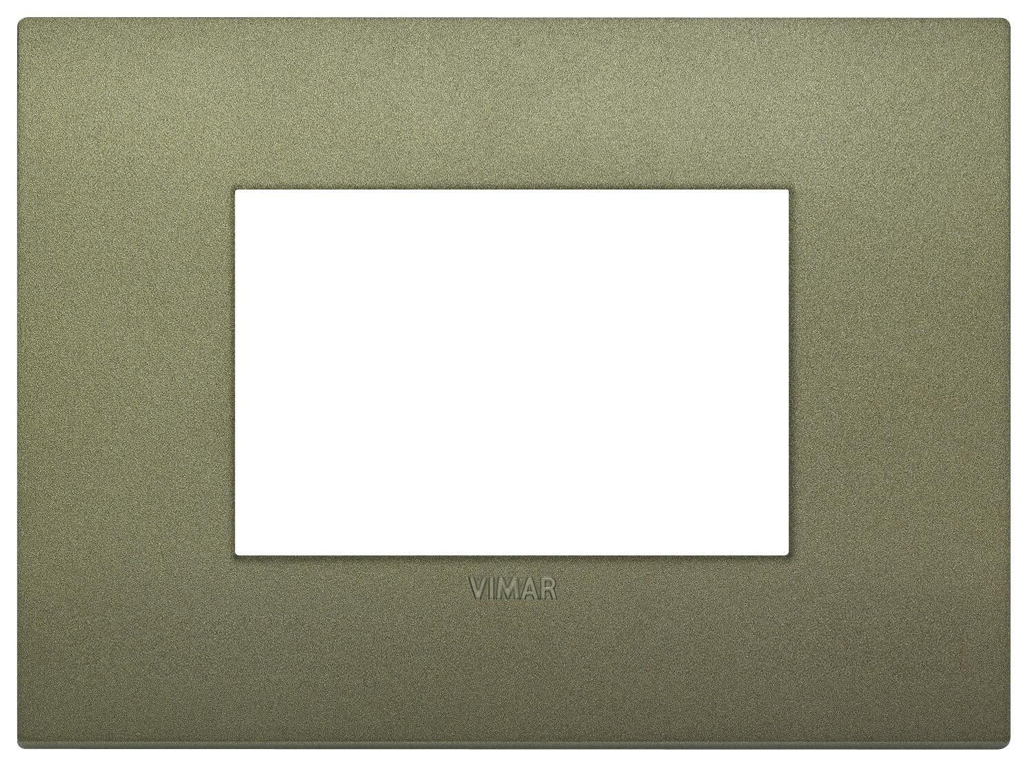 Накладка CLASSIC на 3 модуля зеленая матовая