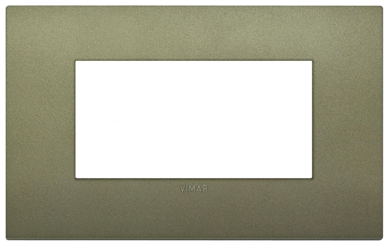 Накладка CLASSIC на 4 модуля зеленая матовая