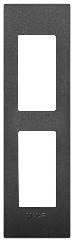 Накладка CLASSIC на 2 модуля для панелей черная