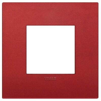 Накладка CLASSIC на 2 модуля красная матовая