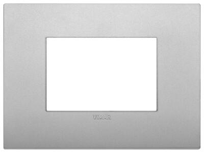 Накладка CLASSIC на 3 модуля серебро матовое