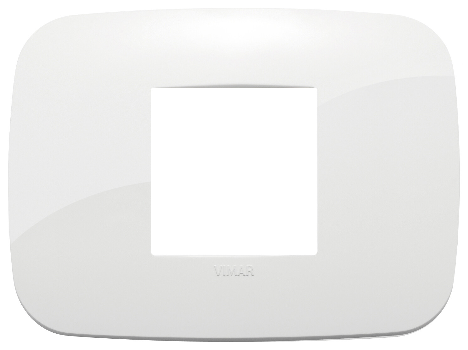 Накладка ROUND на 2 модуля центрально белая