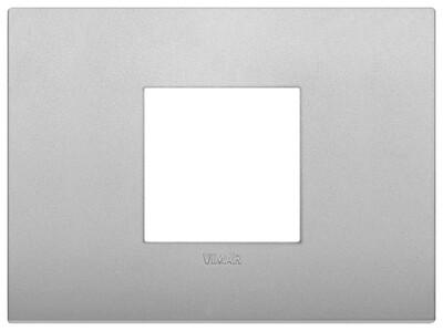 Накладка CLASSIC на 2 модуля центрально серебро матовое