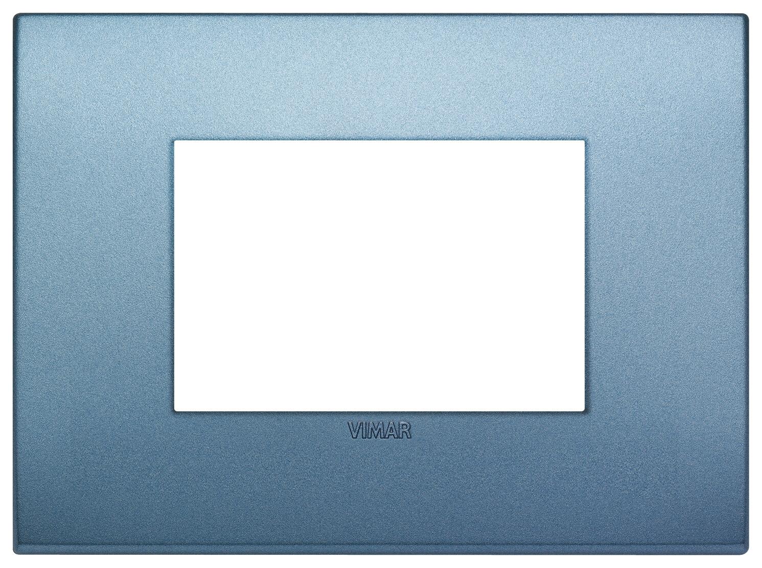 Накладка CLASSIC на 3 модуля синяя матовая
