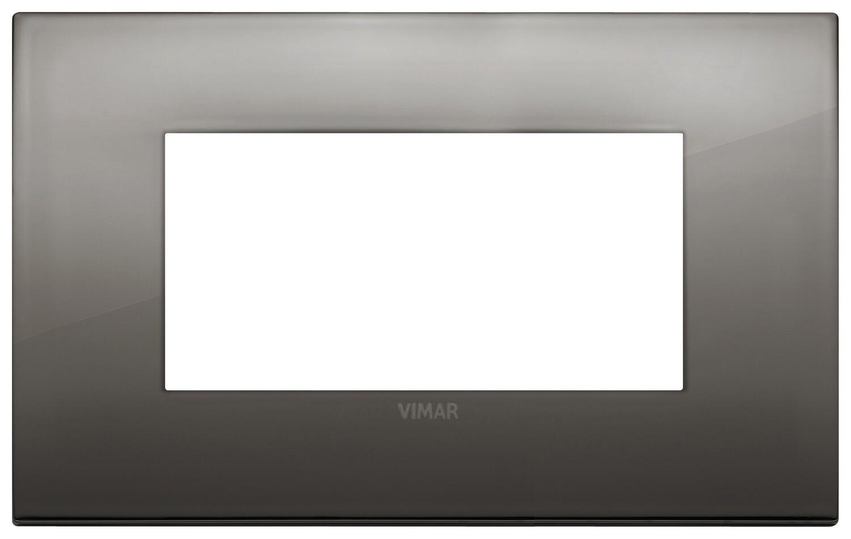 Накладка CLASSIC на 4 модуля хром черный