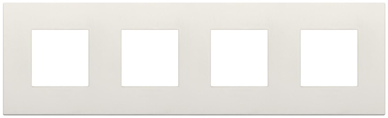 Накладка CLASSIC на 8 модулей (2+2+2+2) расстояние между центрами 71мм слоновая кость