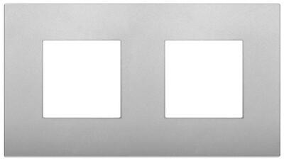 Накладка CLASSIC на 4 модуля (2+2) расстояние между центрами 71мм серебро матовое