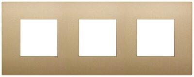 Накладка CLASSIC на 6 модулей (2+2+2) расстояние между центрами 71мм золото матовое