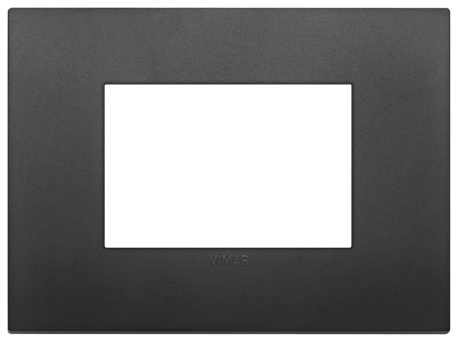 Накладка CLASSIC на 3 модуля черная
