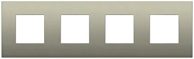 Накладка CLASSIC на 8 модулей (2+2+2+2) расстояние между центрами 71мм шампань матовый