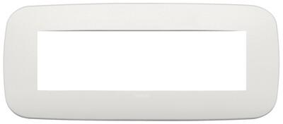 Накладка ROUND на 7 модулей жемчужная матовая