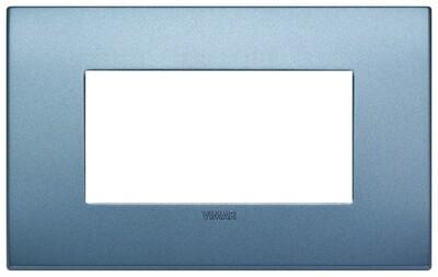 Накладка CLASSIC на 4 модуля синяя матовая