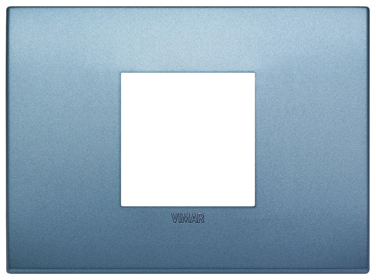 Накладка CLASSIC на 2 модуля центрально синяя матовая