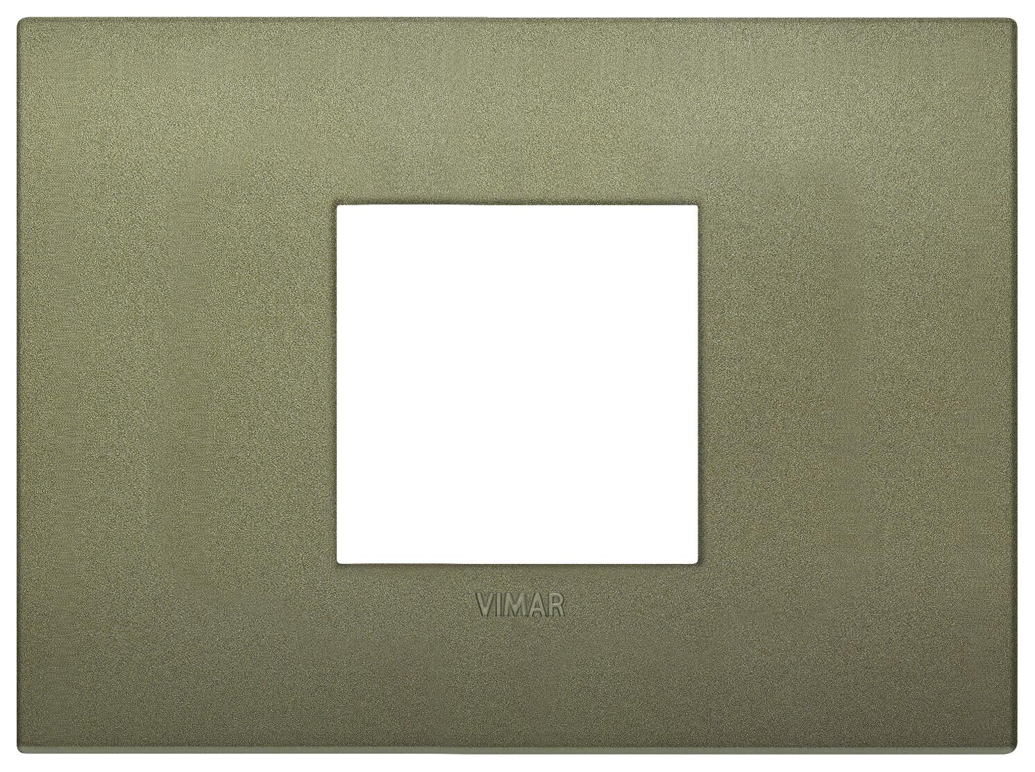 Накладка CLASSIC на 2 модуля центрально зеленая матовая