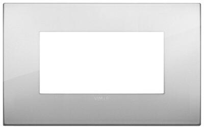 Накладка CLASSIC на 4 модуля серебро