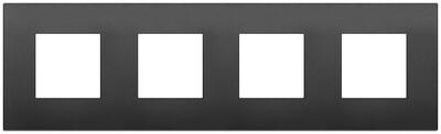 Накладка CLASSIC на 8 модулей (2+2+2+2) расстояние между центрами 71мм черная