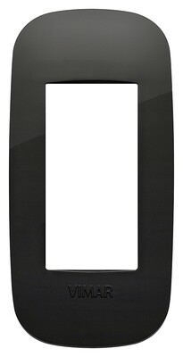 Накладка ROUND на 1 модуль для панелей черная
