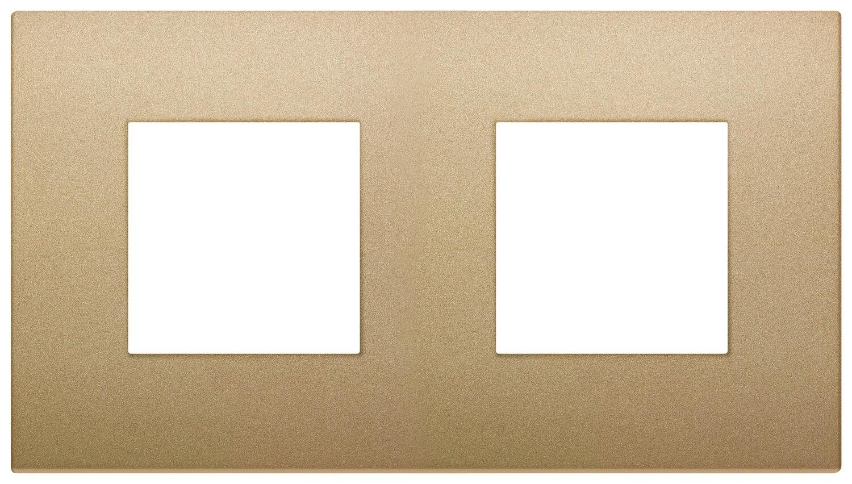 Накладка CLASSIC на 4 модуля (2+2) расстояние между центрами 71мм золото матовое
