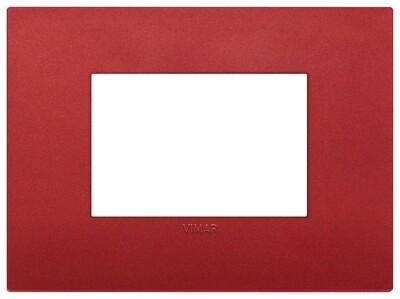 Накладка CLASSIC на 3 модуля красная матовая