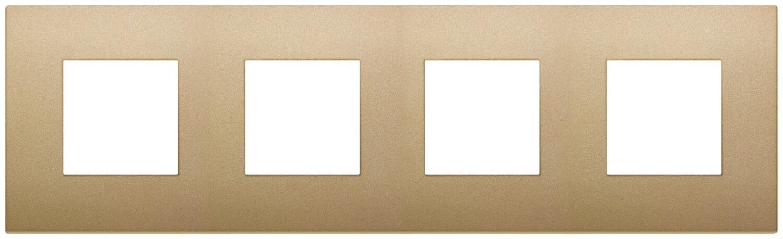 Накладка CLASSIC на 8 модулей (2+2+2+2) расстояние между центрами 71мм золото матовое