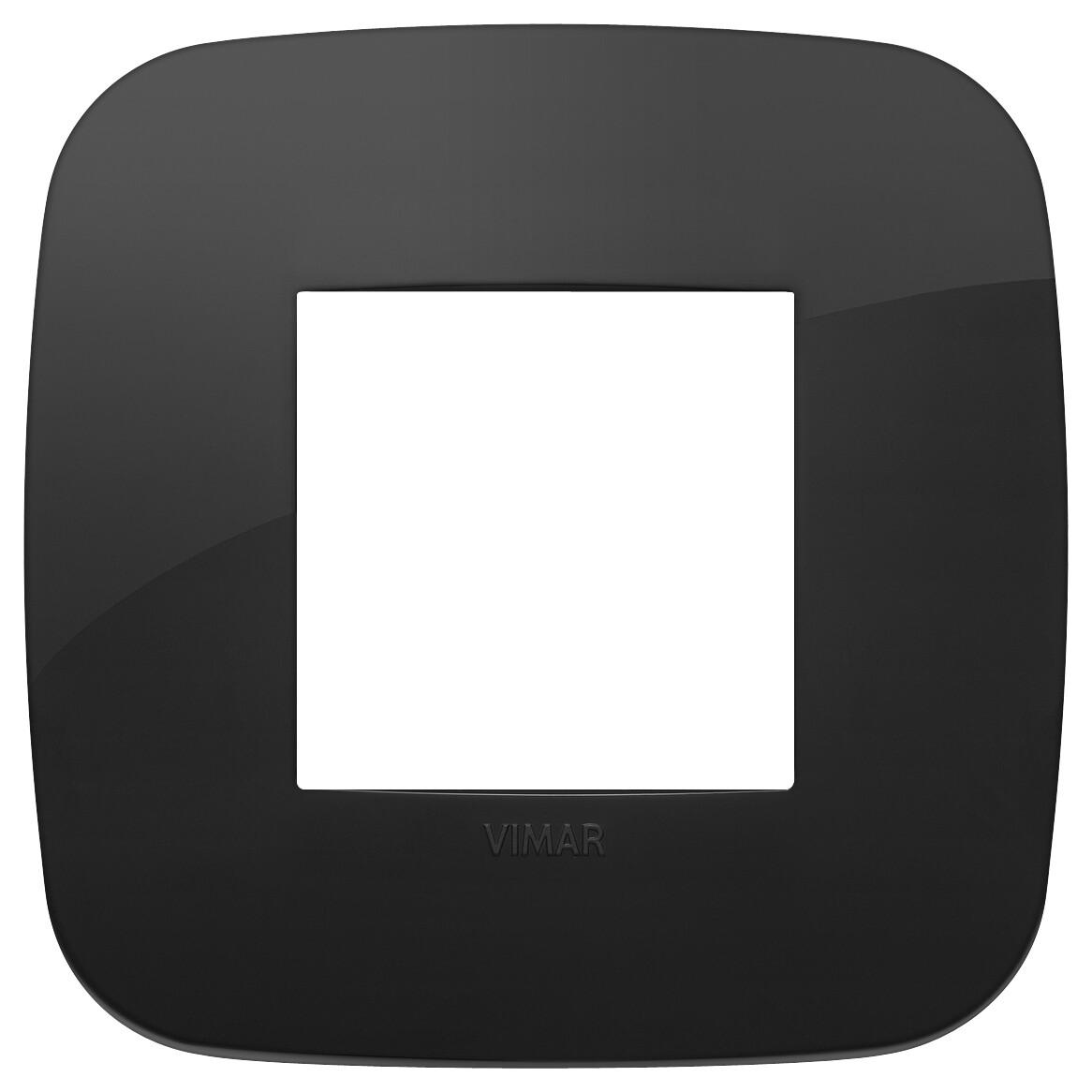Накладка ROUND на 2 модуля черная
