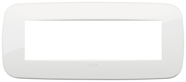 Накладка ROUND на 7 модулей белая