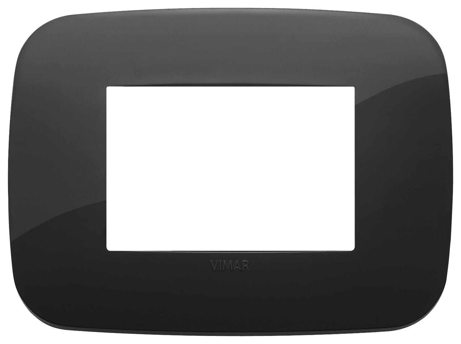 Накладка ROUND на 3 модуля черная
