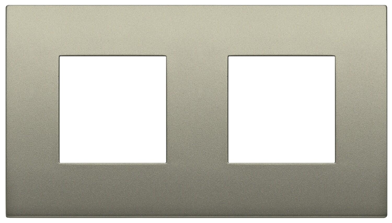 Накладка CLASSIC на 4 модуля (2+2) расстояние между центрами 71мм шампань матовый